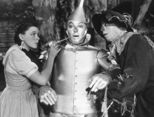 Judy Garland, Jack Haley, Ray BolgerFilm SetWizard Of Oz, The (1939)0032138