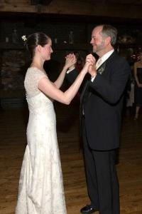Dad and me after our dance at my wedding in 2005.