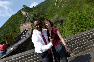 Made it to the Great Wall of China with my boss Jim Coleman (thanks to the help of compression stockings!).